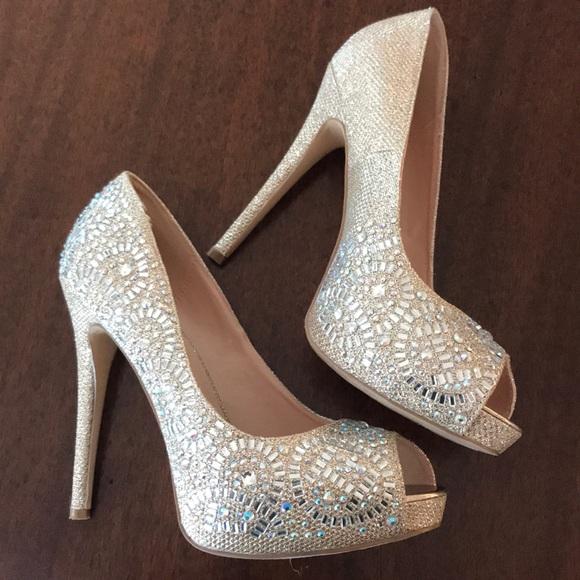 d48ba1d920 Lauren Lorraine Shoes | Elissa 2 Nude Sparkle | Poshmark